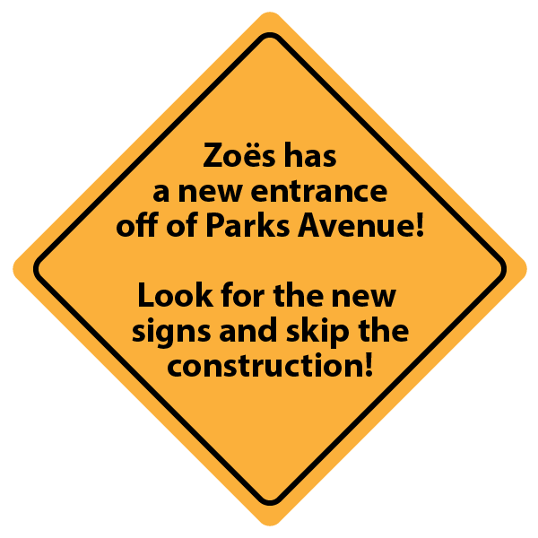 Zoes Parks Avenue Sign